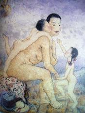 Figle 1958 r - tusz 64x79 cm