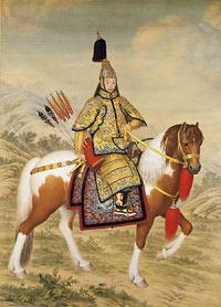 Giuseppe Castiglione - portret cesarza Qianlonga