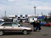Pierwomajsk - przejście graniczne    <br /> na granicy z Ukrainą - fot. R.Simaczenko