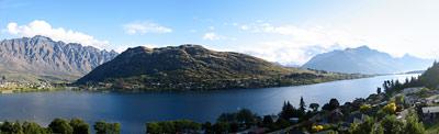 Frankton-panorama jeziora Wakatipu