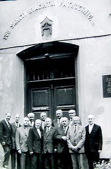 Wychowankowie szkoły na spotkaniu w 1965 r.