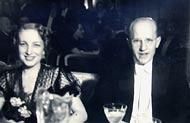 Adam Grabowski z żoną Heleną