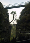 Neurather Burg - mostek dla turystów