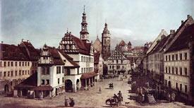 Rynek w Pirnie wg Canaletta