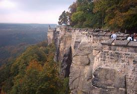 Mury obronne twierdzy Königstein