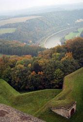 Widok z murów Königstein na zakole Łaby