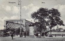 Warszawa– most Kierbedzia. Wysłana w 1917 r.
