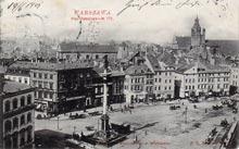 Warszawa– Plac Zamkowy. Wysłana w 1901 r.