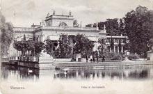 Pałac w Łazienkach. Wysłana w 1903 r.