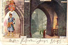 Kraków– brama Floriańska. Wysłana w 1900 r.