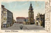 Kraków– Ratusz. Wysłana w 1903 r.