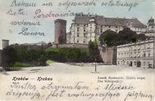 Kraków– zamek na Wawelu. Wysłana w 1903 r.