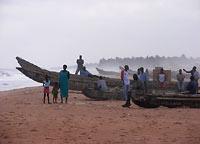 plaża w Lome po południu