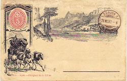 szwajcarska kartka pocztowa wysłana w 1893 r.