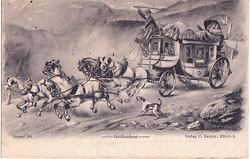 szwajcarska widokówka wysłana w 1904 r.
