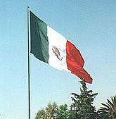 Meksykańska flaga na Zocalo