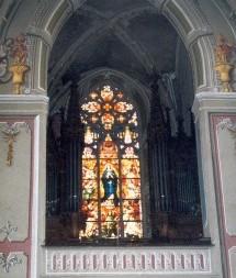 Lwów, witraż w katedrze łacińskiej