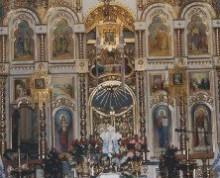 Fragment ołtarza. cerkiew we Włodzimierzu Wołyńskim