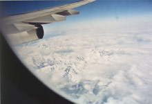 Lot nad Alpami