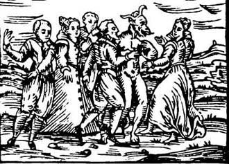 sabat czarownic, ilustracja z traktatu F.M. Guazzo ok. 1624