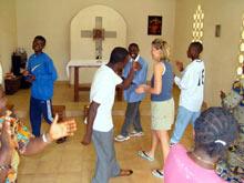 tańce w kaplicy