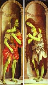 Filippino Lippi, Św. Jan Chrzciciel i św. Maria Magdalena, ok. 1500, Galleria dellAccademia, Florencja