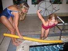 skok do wody na nogi