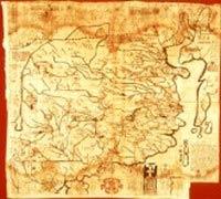 mapa Chin sporządzona przez Michała Boyma w VII w.