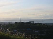 Edynburg o zachodzie słońca