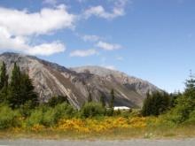 Południowe Alpy - widok od Christchurch
