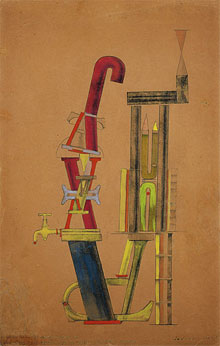 Max Ernst, Von minimax dadamax selbst konstruiertes maschinchen,1920,Peggy Guggenheim Collection, NY