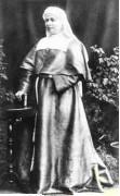 Założycielka mariawityzmu Maria Franciszka Kozłowska z zaprojektowanym przez siebie stroju zakonnym