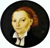Lucas Cranach starszy - Portret Katarzyny von Bora, żony Marcina Lutra ok 1525