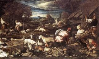 Jacopo Bassano, Ofiara Noego - kot na pierwszym planie