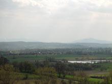 widok z Chełmu na południe