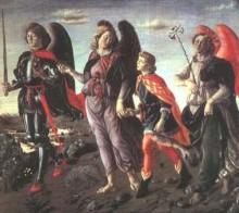 F. Botticini, Trzech archaniołów i młody Tobiasz, XV w.