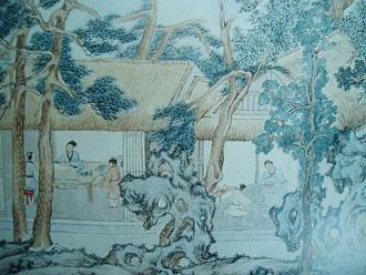 Fragment obrazu Weng Zhengminga, z ok. 1559