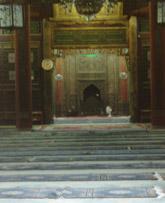 Wnętrze Wielkiego Meczetu w Xianie