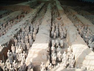 Główny pokład z żolnierzami Terakotowej Armii