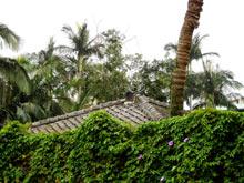 dach starego domu w Tajpej