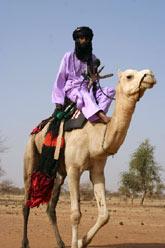 Tuareg na wielbłądzie, fot. Kinga