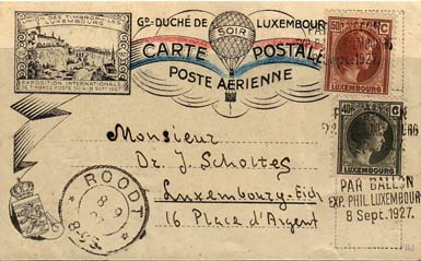 karta z 1927 r, Luxemburg