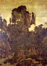 Li Tang (ok. 1070- po 1150 Dynastia Sung) Wiatr Wśród Sosen Doliny Miriady, zwój wiszący. Muzeum Pałacowe w Tajpej