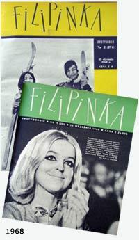 okładki Filipinek z 1968 r.