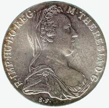moneta z popiersiem Marii Teresy
