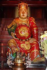 rzeźba Guoxinga w jego świątyni