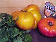 składniki do sałatki pomidorowej