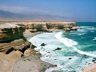Chile, wybrzeże obok Portada de Antofagasta