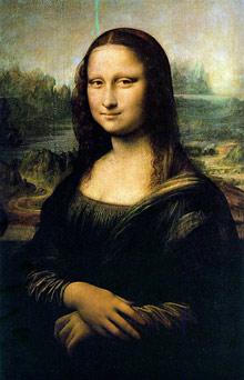 Mona Lisa, reprodukcja na pocztówce