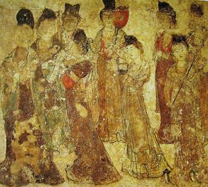 damy dworu - grobowiec Yongtai w Qian Ling
